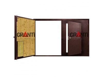 Гаражные ворота антивандальные №20 с калиткой
