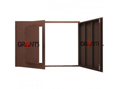 Гаражные ворота №3 с калиткой
